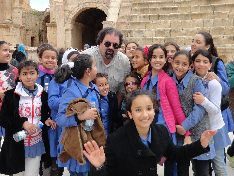 Randy and friends in Jerash, Jordan