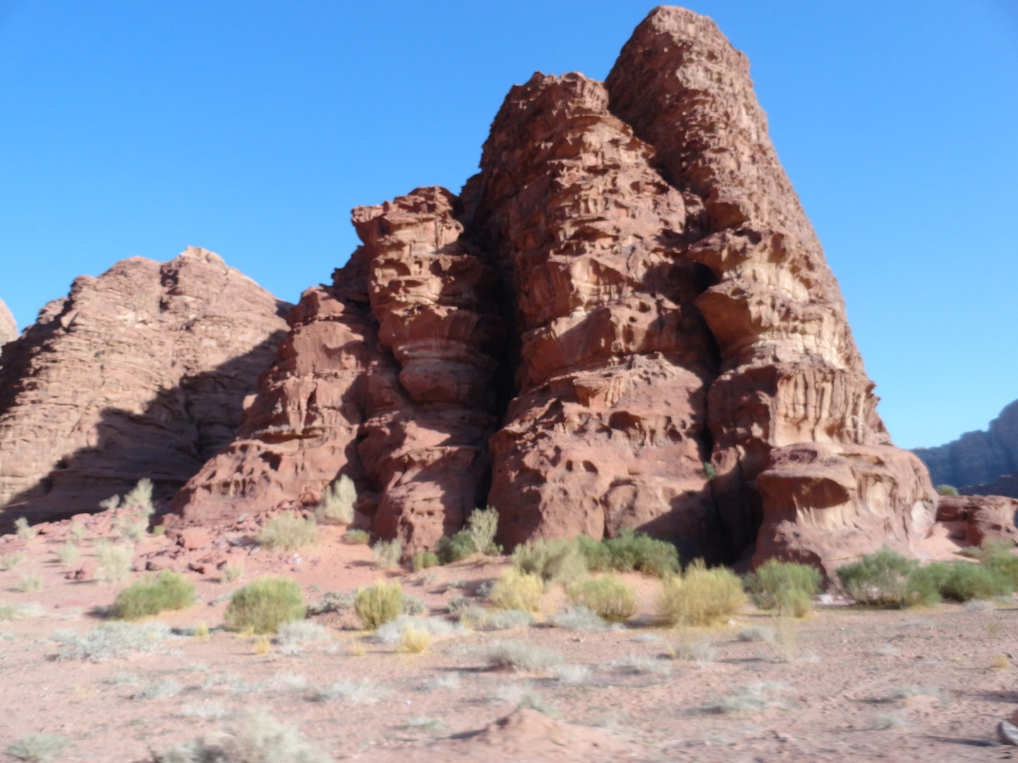The rock formations at Wadi Rum.  All of this was under water years ago.