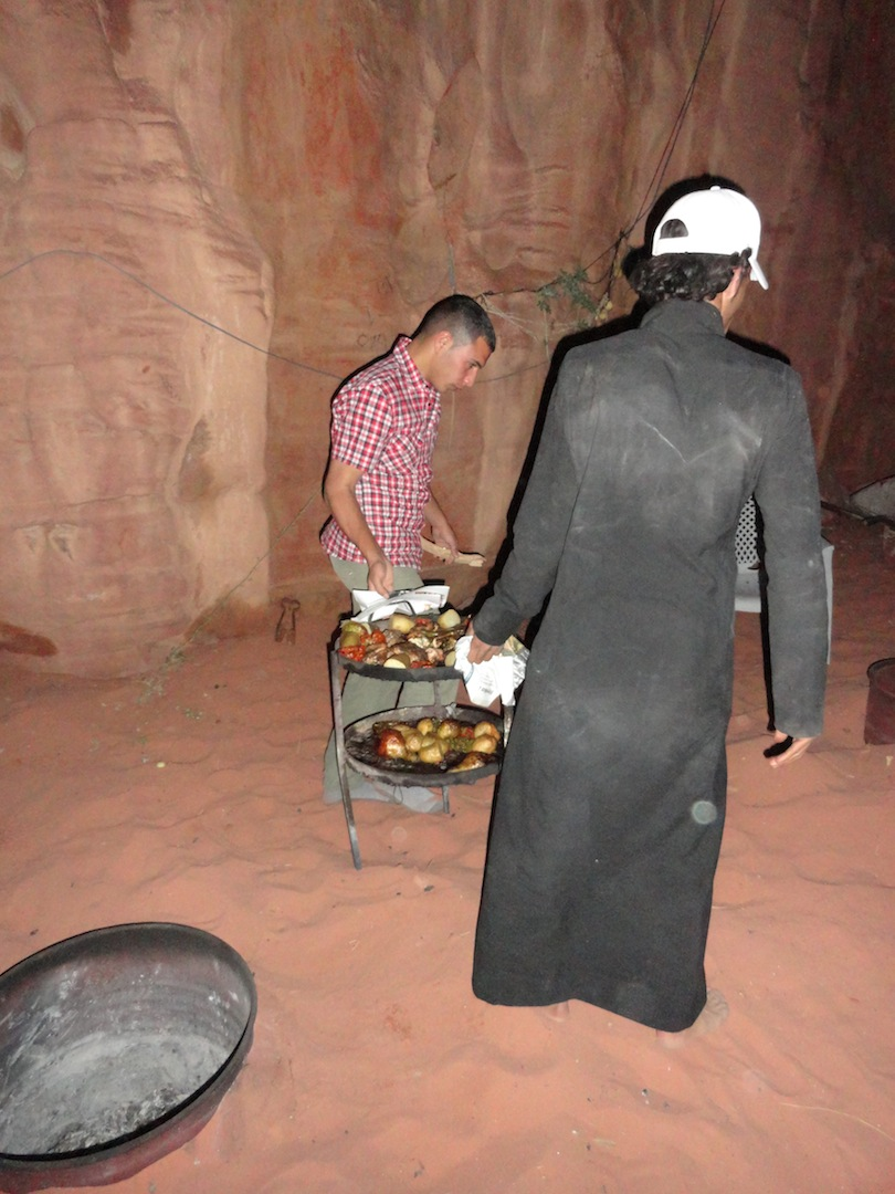 Ahmed and Sadaam prepare our meal.