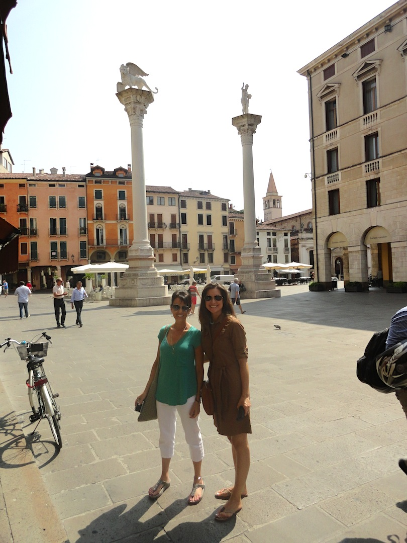 Sharon and Jessica in Vicenza