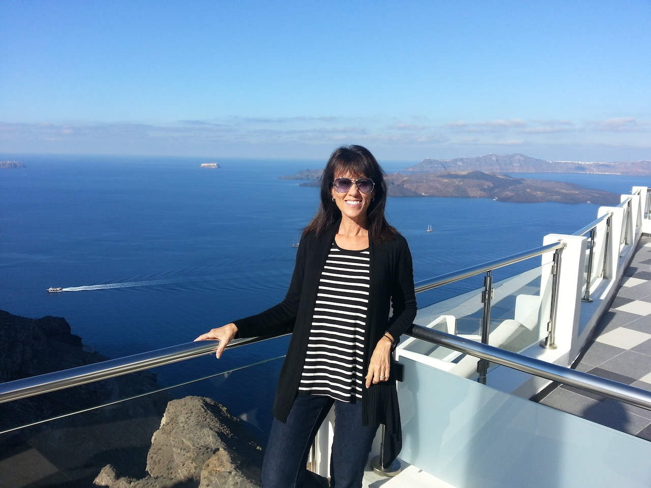 Sharon in Santorini, Greece