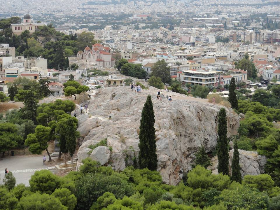 Mars Hill where Paul preached in Athens