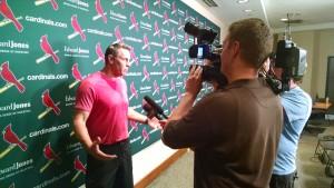 Kurt shares with press