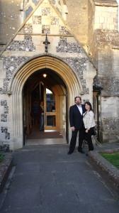 Randy & Sharon at St. Mary's Anglican Church.