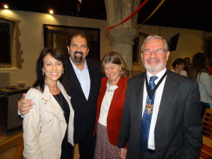 Randy & Sharon Mayfield with Worthing Mayor, Vic Walker and his wife Rosemary.