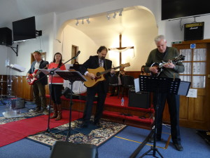 Playing at the Arabic Evangelical Church near Brighton, UK
