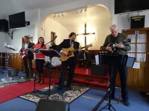 Playing at the Arabic Evangelical Church near Brighton, UK