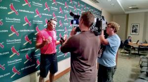 Kurt in press room