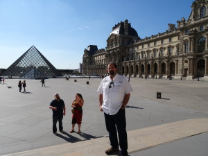 Randy at the Louvre
