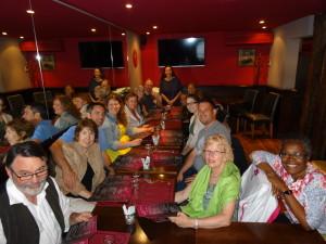 Team at lunch in Paris