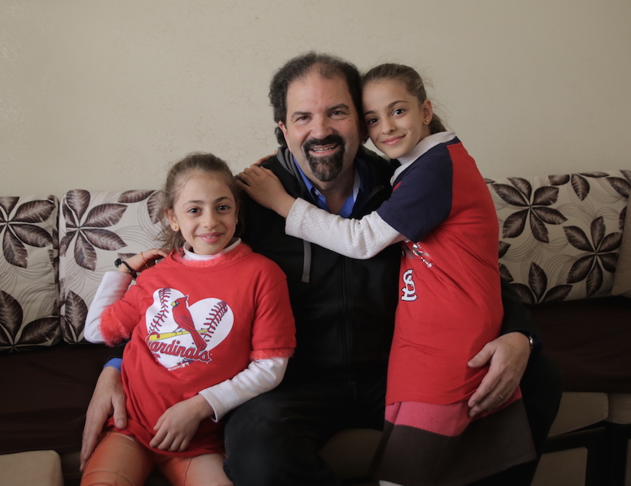 Randy with friends, Maryam & Zomorod (Refugees from Qarahqosh, Iraq)