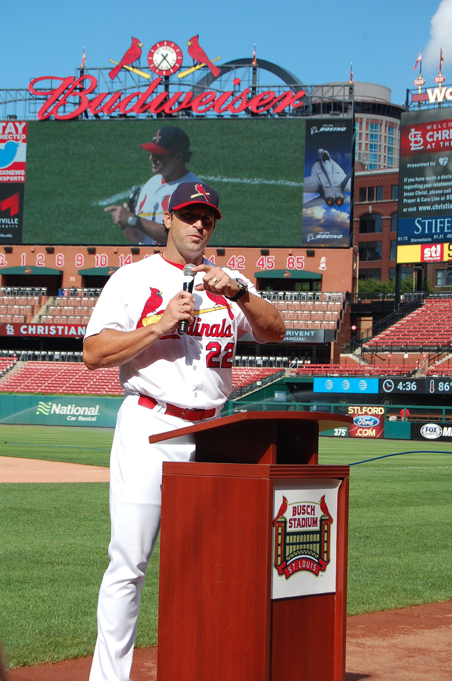 Coach Mike Matheny shares his faith.