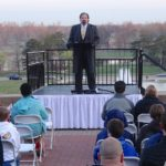 Randy preaches at Easter Sunrise Service in Forest Park