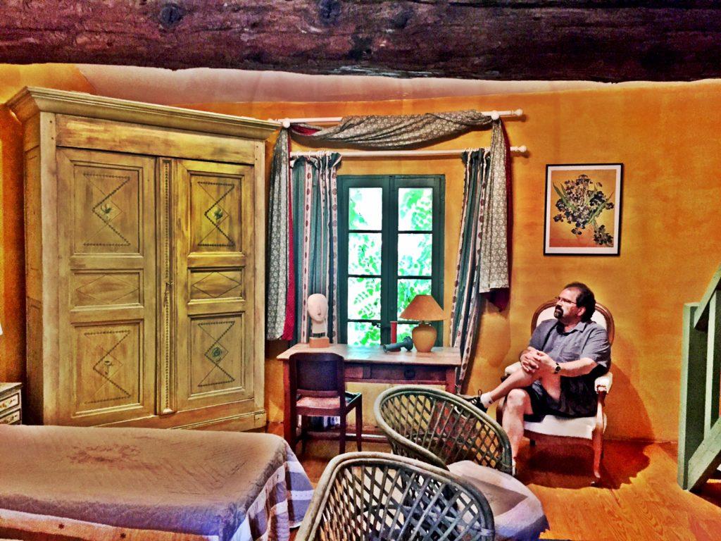 Randy enjoys the Van Gogh apartment in Arles, France.