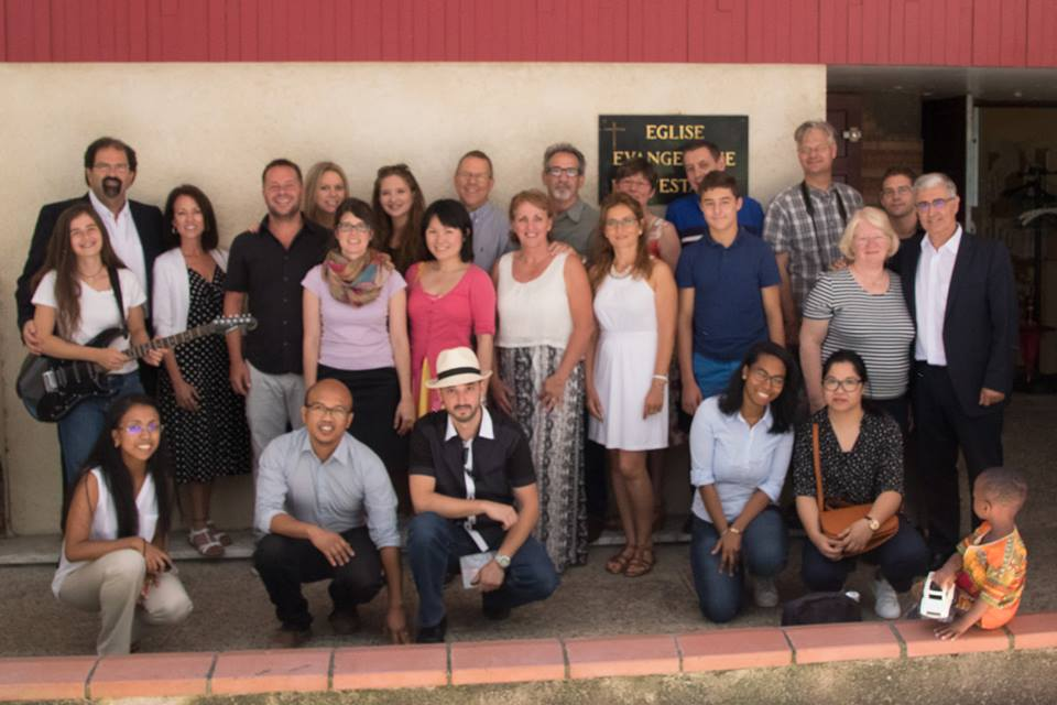 The band and church team in Toulouse.