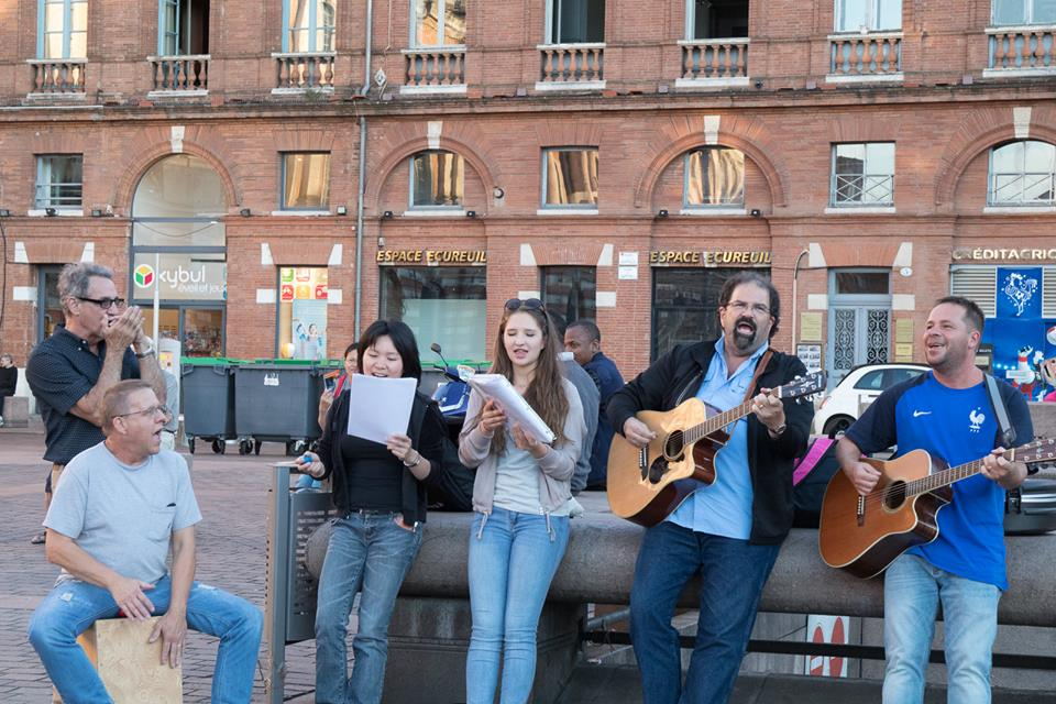 Band plays in the Capitol Square in Toulouse.