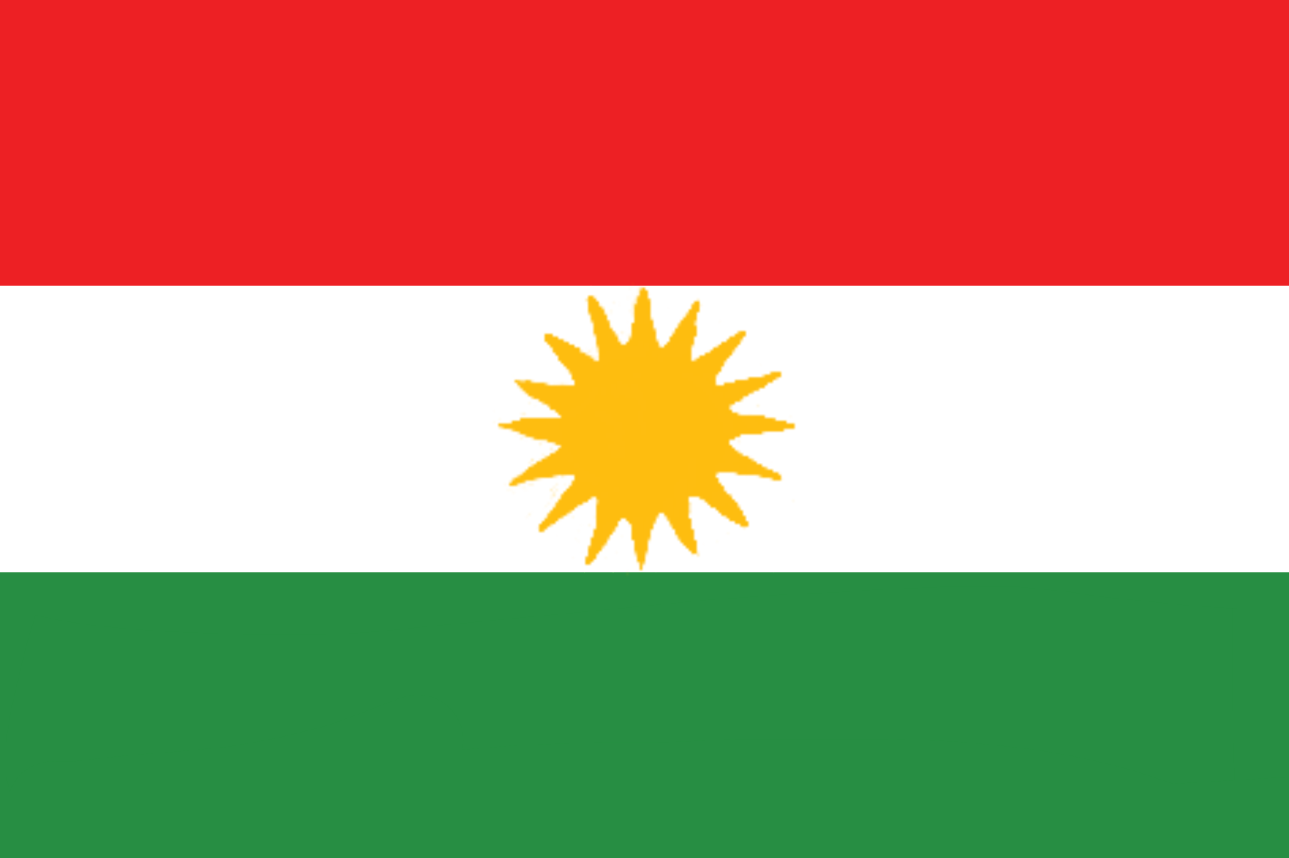 Flag of Kurdistan region (Northern Iraq)
