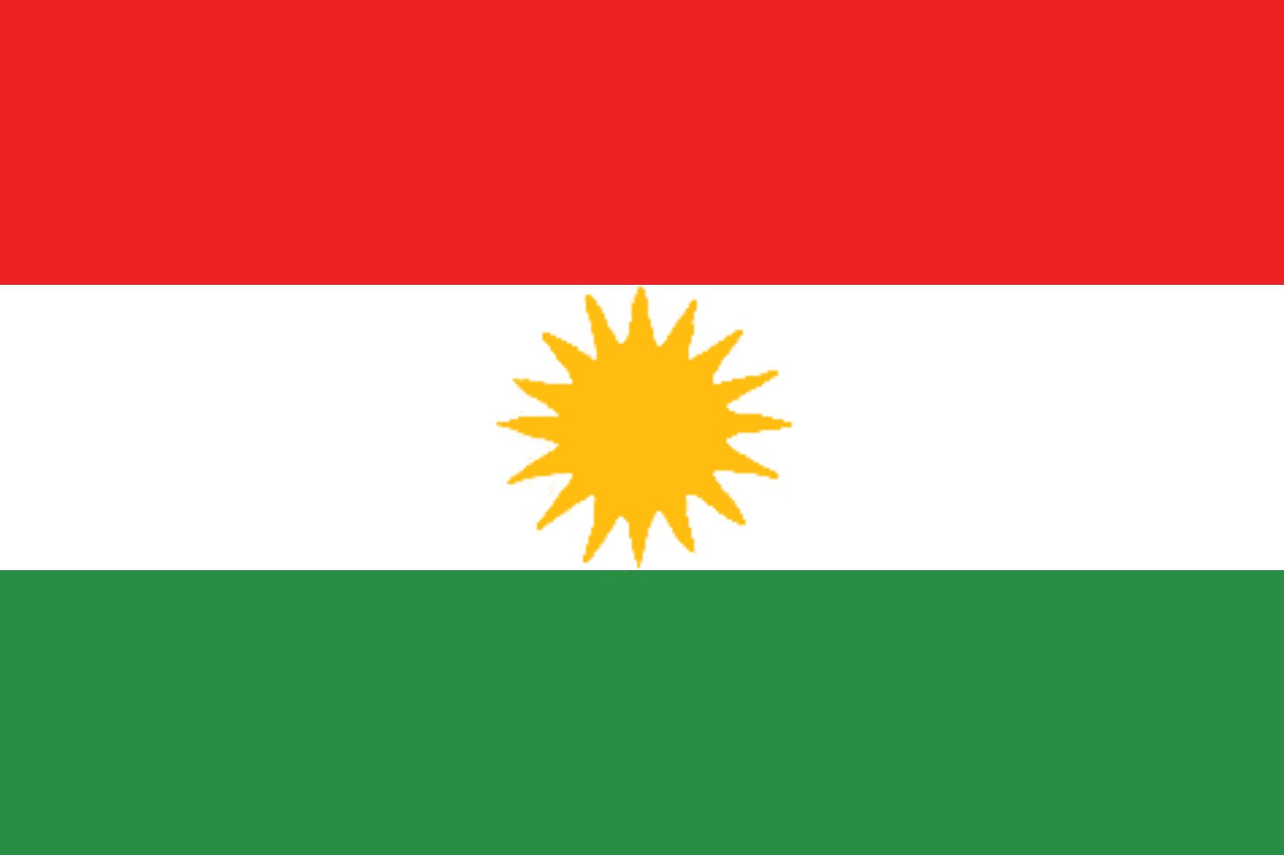 Flag of Kurdistan region (Northern Iraq)