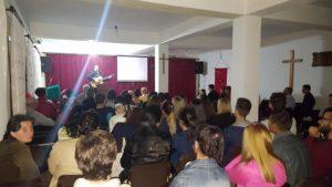 Worship service in Berat, Albania