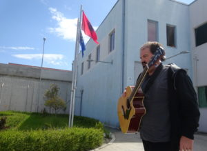 """Randy """"Johnny Cash"""" Mayfield heading into prison in Albania."""