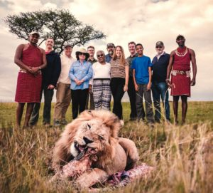 Kenya Team & Lion shot