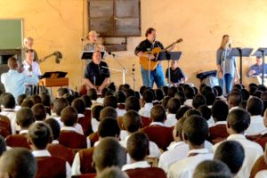 Randy Mayfield and the All Star Band performing in Kenya